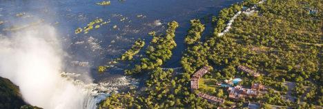 Set captivatingly close to the majestic Victoria Falls
