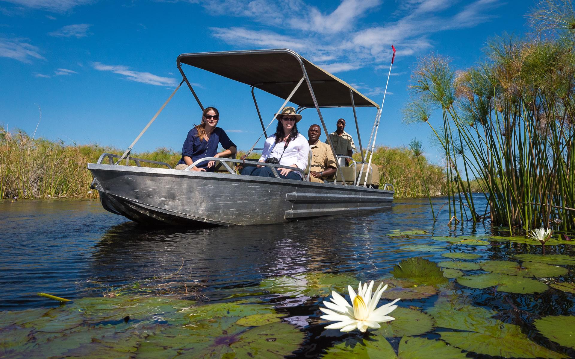 Vumbura Plains Water Boat