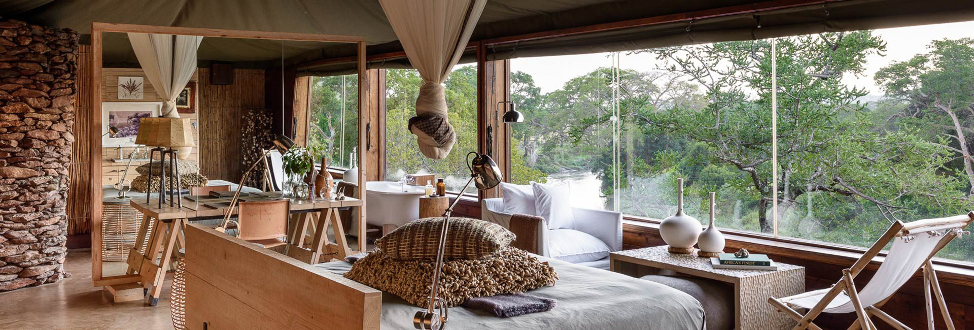Be at one with the African wilderness