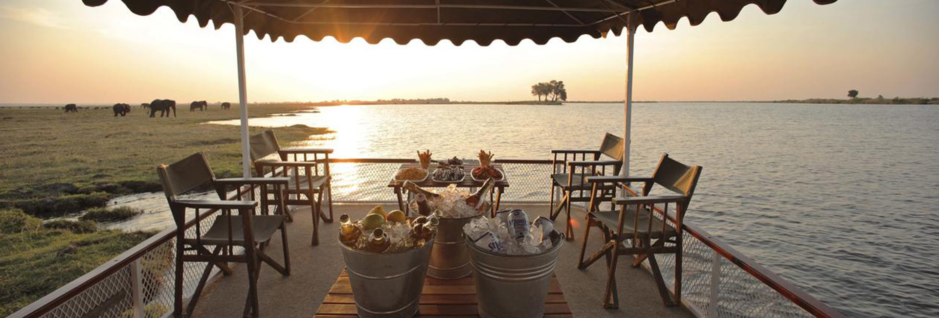 Cruise the Chobe River in luxury